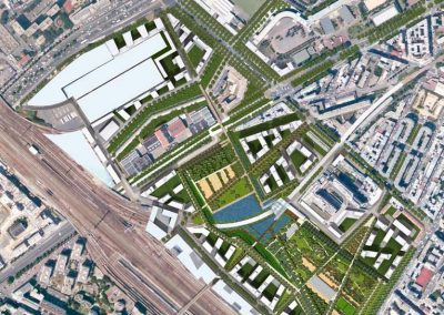 Clichy Plan de masse du projet urbain
