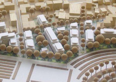 ZAC Blanche Monier Maquette de l'aménagement urbain
