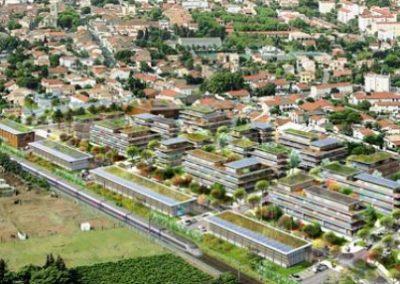 ZAC Pielles Vue 3D de l'aménagement urbain