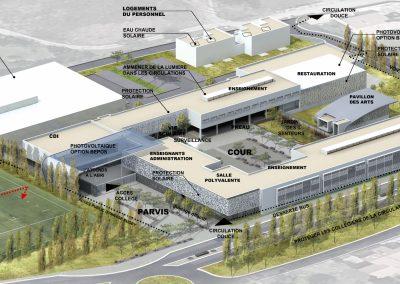 Collège Bourquin Axonométrie