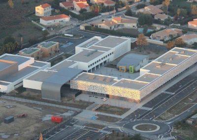 Collège Bourquin Vue aérienne