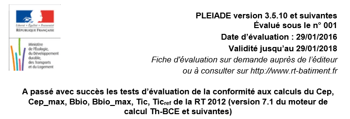 evaluation logiciel RT2012