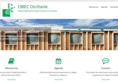 Mini-site internet du projet