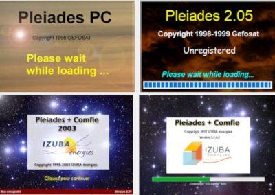 Pleiades : Écrans d'accueil