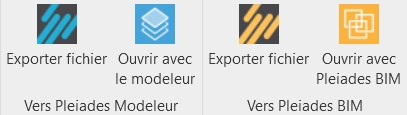 Plugin Pleiades pour Revit - exports disponibles